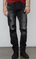 Ralph Lauren Denim & Supply Slim 38x34 Destroyed Black Jeans Battalion RRL Grey