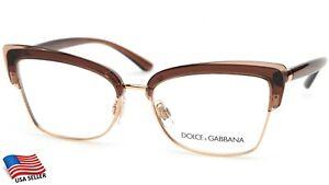 NEW D&G Dolce&Gabbana DG5045 5374 Brown EYEGLASSES FRAME 53-16-140 B38 Italy
