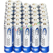 32x AA battery batteries Bulk Nickel Hydride Rechargeable NI-MH 3000mAh 1.2V BTY