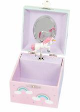 Childrens Unicorn Musical Jewellery Box Rainbow Cube Girl Kids Bedroom Gift