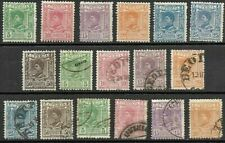 SERBIA.. 17 STAMPS, KING ALEXANDER 1st.. UN-USED & FINE USED .. 1890..