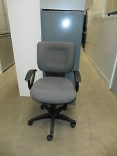 OFFICE GREY FABRIC CHAIR WITH ARMS BRISBANE