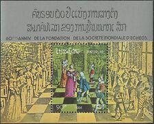 LAOS Bloc N°79 ** Bf Jeux d'échecs 1984, chess games Sc#545 MNH