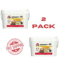 Emergency Food Supply Kit Quick Meal Storage Survival Bucket 55 Meals 2 PACK