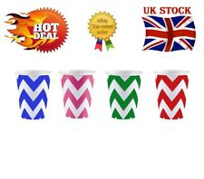 More details for 30xeco-friendly disposable designed zigzag premium quality 7oz paper party cups