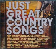 Just Great Country Songs 2-disc CD NEW Alan jackson Tim McGraw Haggard