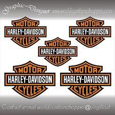 5 DECAL ADHÉSIFS AUTOCOLLANTS BAR ET SHIELD HARLEY DAVIDSON MOTO CHOPPER