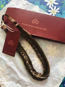 NEW Madison Braids Braided Headband - Lulu Two Strand Ashy Light Brown