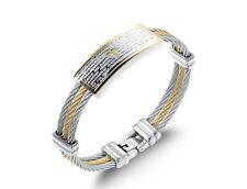 18K Gold GP Modern Classic Men's bracelet Silver/Gold