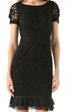 Tory Burch Bovary Lace Sheath Dress Black Size 8