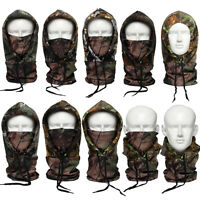 Camo Thermal Fleece Cold-proof Tactical Hunting Cycling Hats Face Mask Balaclava