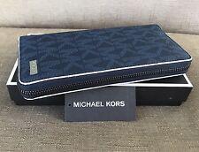 MICHAEL KORS MEN'S JET SET SUBTLE LOGO TECH PHONE SLOT ZIP WALLET WITH RFID