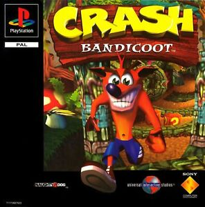 - Crash Bandicoot PS1 Replacement Spare Cover Art Only
