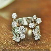 3Ct Round Diamond Multi Row Torque Engagement Wedding Ring 14K White Gold Finish