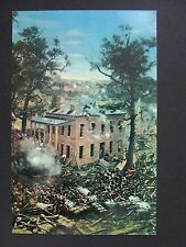 Civil War Battle Atlanta Georgia Hurt House Manigaults Brigade Postcard 1950s