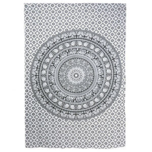 Hippie Elephant Mandala Tapestry Black Indian Wall Hanging Art Decor Tapestries