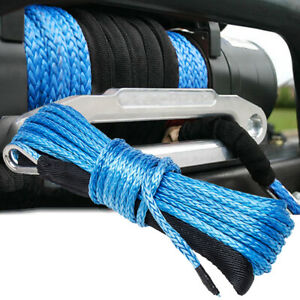 "1/4""x50' 10000LBS Synthetic Winch Rope Line Recovery Cable 4WD ATV UTV w/ Sheath"