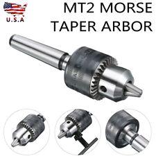 Mini Metal Lathe Tail Stock Drill Chuck Tools With Mt2 Morse Taper Arbor Usa