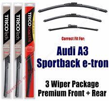 Wipers 3pk Premium Front/Rear fits 2016+ Audi A3 Sportback e-tron 19260/180/12i