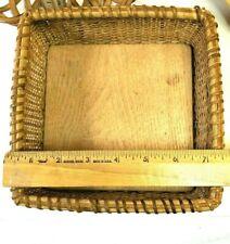 Natural Wicker Basket Square Napkin Holder Home Decor Kitchen C90