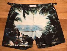 "Orlebar Brown Mens Photographic Sea You There 32"" W Bulldog Shorts RRP £225"
