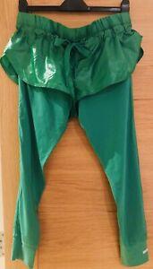 Stella McCartney Adidas Green Sweat Pants,REDUCED,Fabulous,100%Auth.,Medium