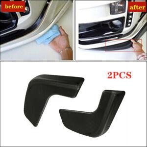 2PCS Car SUV Universal Front Bumper Lip Body Kit Spoiler Black ABS front shovel