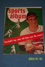 1951 Sports Album CLEVELAND Indians BOB FELLER No Label LARRY DOBY Al ROSEN