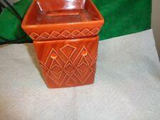 Scentsy Wax Warmer Savo Burnt Orange with Diamond Design