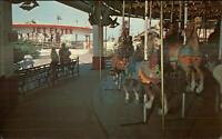 Powell OH Columbus Zoo Amusement Park Carousel Merry-Go-Round Postcard
