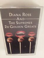 Diana Ross & The Supremes : 20 Golden Greats : Cassette Tape Album From 1977.