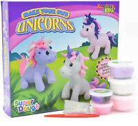 Make Your Own Dough Clay Unicorn Figure Kids Girls Art Craft DIY Activity Toys