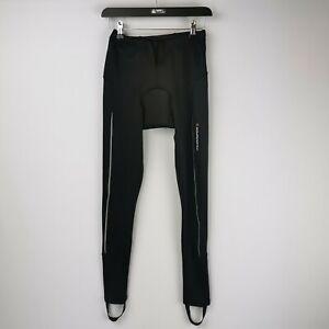 Muddyfox Men's Black Padded Cycling Tights / Leggings with Stirrups - Size XS
