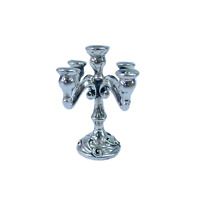 Nice Candelabra Miniature Shabbat Prayer Judaica Talisman Home Decor Silver 925