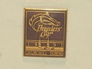 1991 - Breeders Cup @ Churchill Downs Purple & Gold Lapel Pin in MINT Condition