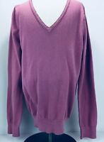 Lands' End Women's Long Sleeve Pullover Sweater, Pink, V-Neck  Size xS   (2-4)