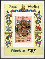 Bhutan 1981 Princess Diana Royal Wedding MNH Imperf M/S #D7698