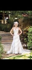 Bella Donna Ivory Wedding Dress New Size 8 Beaded Lace Strapless & Mermaid Shape