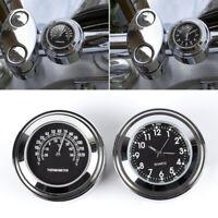 "7/8""/1"" Motorcycle Clock Thermometer Handlebar Aluminum Alloy Waterproof Tool"