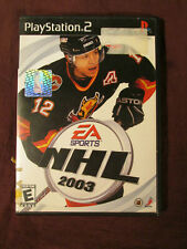 PLAY STATION 2 EA SPORTS NHL 2003 VIDEO GAME no instructions TESTED HOCKEY GOAL