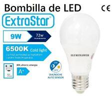 Bombilla SENSOR CREPUSCULAR E27 ESTANDAR LED 9W Luz Blanca 6500k 900 Lm 230V