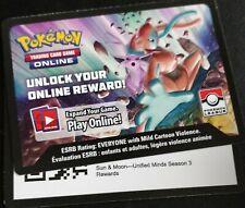 Pokemon:Unified Minds Season 3 - 4X Net Ball 187A 1X PTCGO Code