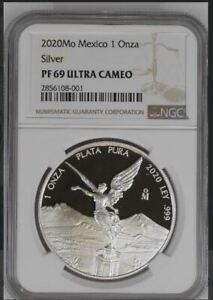 2020 Mexico Silver Libertad .999 1 oz ONZA NGC PF69 Proof  - #2856108-001