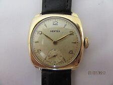 C1937 Vertex  9ct Gold Manual Wind Engraved Wrist Watch