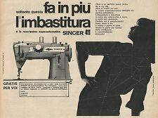 W8420 Macchina da cucire SINGER - Pubblicità 1964 - Advertising