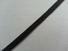 Mercado de Encaje * * 5 metros Plano Negro Elástico Stretch Coser Manualidades 5 mm multi propósito