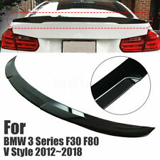 Gloss Black Rear Trunk Spoiler Wing For BMW 3 Series F30 F80 V Style 2012-2018