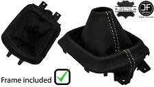 BEIGE STITCH LEATHER MANUAL GEAR GAITER +PLASTIC FRAME FOR MAZDA CX5 CX-5 12-16