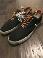 Polo Ralph Lauren Vaughn Black Lime Shoes New Mens 12 Boat Deck