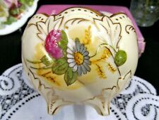 Victoria Carlsbad Austria painted floral porcelain footed open planter bowl
